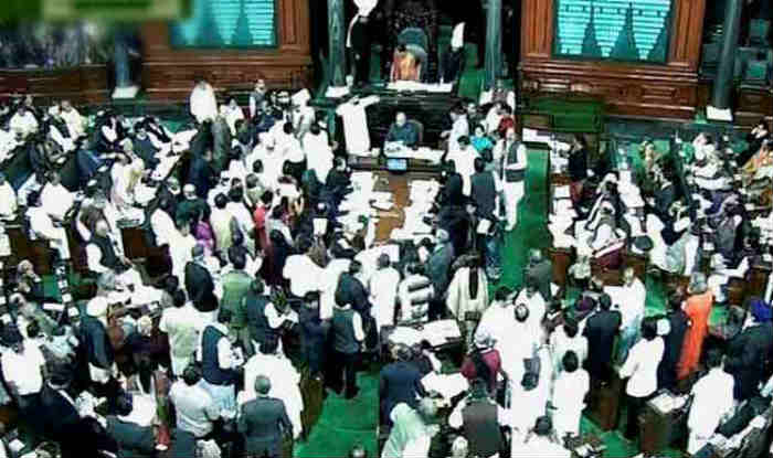Left members,Manithaneya Makkal Katchi MLA display placards in House against Centre
