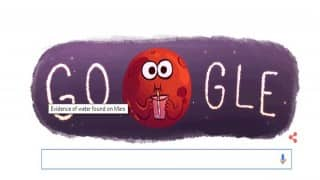 Google Doodle celebrates the landmark discovery of water on planet Mars