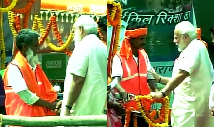 Educate you children to elevate poverty, appeals Narendra Modi to rickshaw pullers in Varanasi