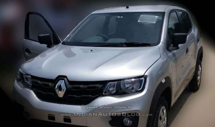 Renault Kwid nearing its launch, spotted at a dealer yard