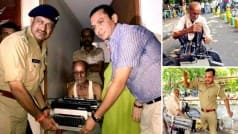 UP old man received new typewriter after pics of policeman's rowdy act went viral