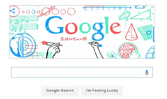 Google cerebrates Teacher`s day with its doodle