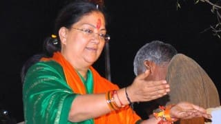 Vasundhara Raje warns corrupt officials