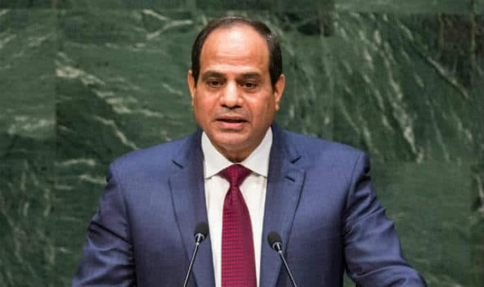 Egypt's President Abdel-Fattah el-Sissi says country in ferocious war