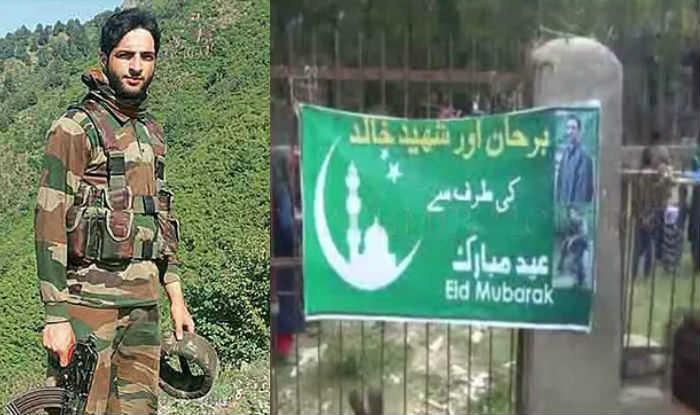 Banner of Kashmiri militant Burhan Wani greeting people Eid Mubarak ahead of Eid-ul-Adha surfaces in his hometown