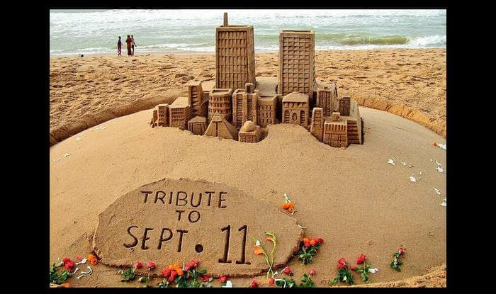 9/11 anniversary tribute: Sand artist Sudarsan Pattnaik remembers September 11 attacks on World Trade Center