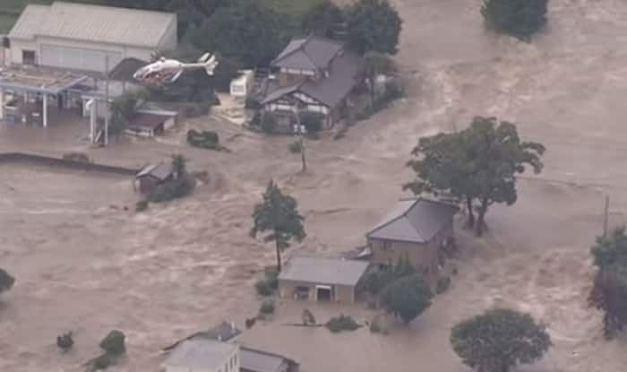 Japan floods: Tsunami-like water all over due to Typhoon Etau, thousands evacuated (Video)