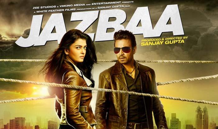 Jazbaa: Aishwarya Rai Bachchan & Irrfan Khan give a tough look in the brand new poster