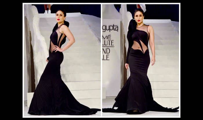 Ooh! Kareena Kapoor Khan in black sheer gown at LFW 2015 grand finale (Watch video)