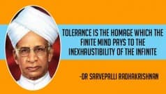 Teachers' Day 2016: 11 inspiring quotes from the teachings of Dr Sarvepalli Radhakrishnan