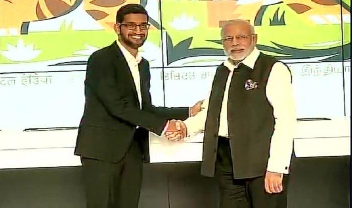 Narendra Modi takes tour of Google headquarters, CEO Sunder Pichai gives special demo