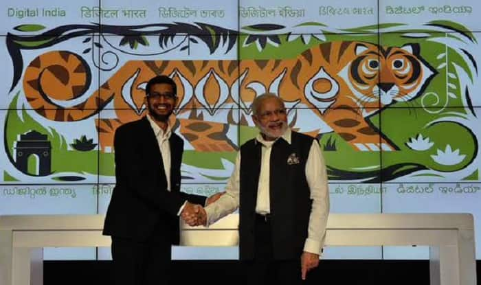 Narendra Modi at Google headquarters: Wifi connectivity announced for 500 railways stations across India
