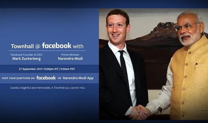Live streaming & telecast of Narendra Modi-Mark Zuckerberg Q&A session at Facebook Townhall