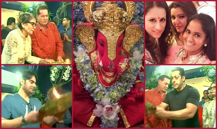 Salman and the Khan family celebrate Ganesh Chaturthi with much enthusiasm at Galaxy apartments!
