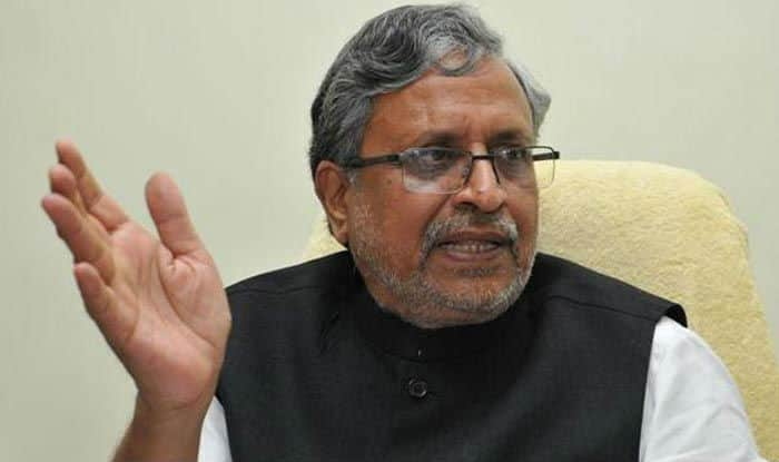 FIR against Sushil Modi for trying to allure voters by promising them free laptops