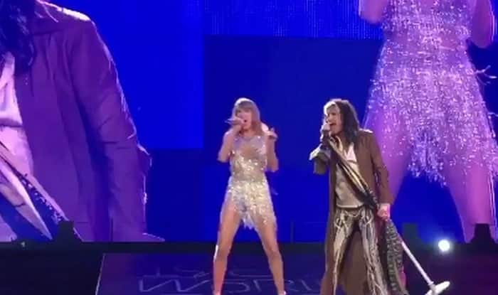 Taylor Swift and Steven Tyler sing 'I Don't Want to Miss a Thing' together! (Watch video)