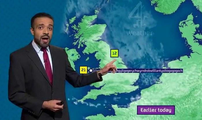 Weatherman Liam Dutton pronounces longest name of place correctly on live TV: Llanfairpwllgwyngyllgogerychwyrndrobwllllantysiliogogogoch