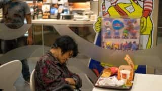 Dead woman sits inside McDonalds for hours before people realise she's not moving!