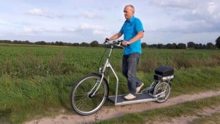 A bike that's also a treadmill! Will you ride err walk this cool scooty to work?