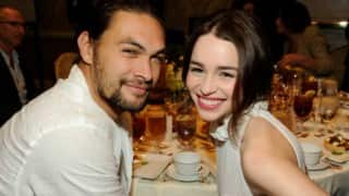 Emilia Clarke, Jason Momoa reunite in Paris