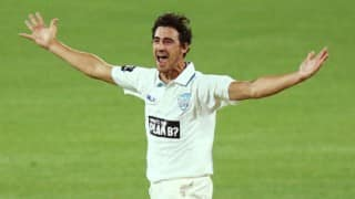 Watch Mitchell Starc scalp 4/4 in 5 overs with pink ball