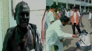 Ink attack row: Shiv Sena shames again, blacken face of RTI activist in Latur with ink