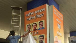 Election posters, banners removed from Patna Airport