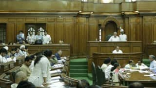BJP MLAs protest against AAP in Delhi assembly over tribute to Ashok Singhal