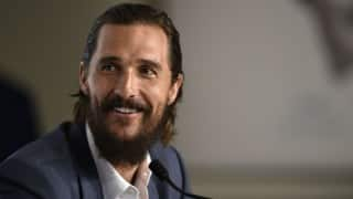 Matthew McConaughey sports a bald patch, paunch in Gold
