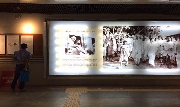 गांधी जयंती के मौके पर दिल्ली मेट्रो ने की अद्भुत पहल