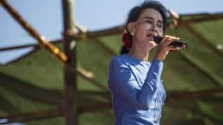 Myanmar's Aung San Suu Kyi hits out at opposition dirty tricks