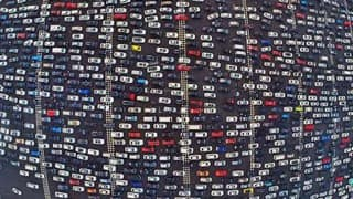 50-lane highway and traffic still got stuck in China!