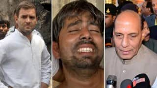 Ballabhgarh: Rahul Gandhi meets Dalit family; Rajnath Singh seeks report from Haryana govt - 10 developments