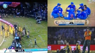 Video of India vs South Africa 2nd T20 at Barabati Stadium, Cuttack Disrupted Due to unruly behaviour of Angry Crowd