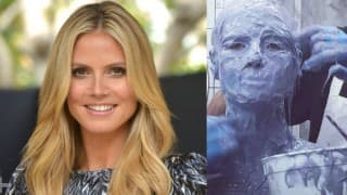 When Heidi Klum covered herself with plaster while making Halloween costume!