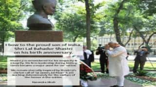 Narendra Modi pays homage to Lal Bahadur Shastri on his 111th birth anniversary