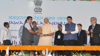 Narendra Modi in Mumbai: Prime Minister lays foundation for fourth terminal at JNPT; Shiv Sena skips event