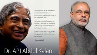 Narendra Modi's salutation to Dr APJ Abdul Kalam on 84th birth anniversary