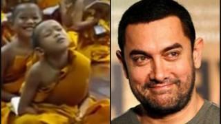 Aamir Khan loves viral video 'Monk kid falling asleep' - shares it on social media!