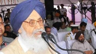 Parkash Singh Badal expresses deep pain to Akal Takht over recent happenings