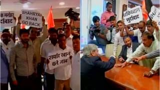 Shiv Sena storms BCCI office in Mumbai; threatens Shashank Manohar to cancel meet with PCB chief Shahryar Khan