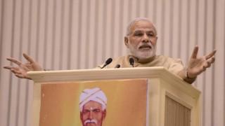 Narendra Modi presenting shining India, Congress shames India: BJP