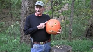 Meet the man who carves pumpkin by shooting them!