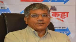 Prakash Ambedkar questions propriety of shastra pujan by RSS