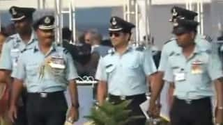 Sachin Tendulkar at the Indian Air Force 83rd anniversary celebrations (Watch video)