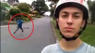 This longboard selfie fail is comical!