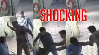 CCTV video shows 60-year-old driver beaten by mob with belts & iron rods in Mumbai! Footage video viral on Facebook