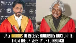 Shah Rukh Khan & Dr. APJ Abdul Kalam: Only Indians to receive honorary doctorate by The University of Edinburgh