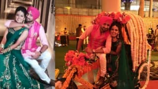 Harbhajan Singh & Geeta Basra wedding: See new Sangeet Pictures of cute couple before fairy-tale marriage!