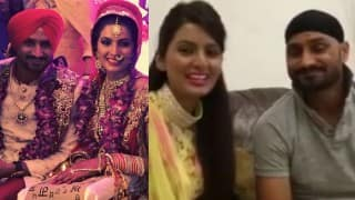 Harbhajan Singh & Geeta Basra make first post-wedding appearance to thank fans! Watch video